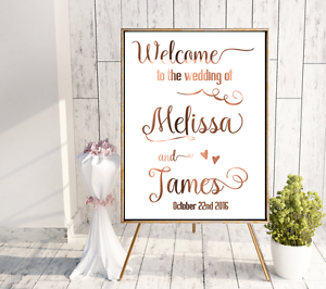 Welcome wedding prints // Copper welcome // welcome sign copper // custom