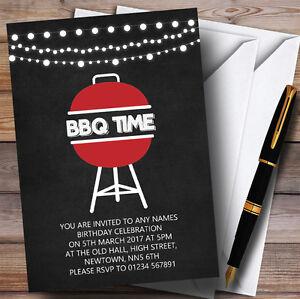 chalk bbq time childrens birthday party invitations ebay