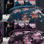 NEW Floral Flowers Printed Reversible Duvet Bed Cover Pillowcases All Sizes