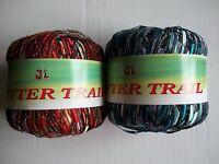 Jl Glitter Trail Ladder Ribbon Trellis Yarn, Mixed Lot Of 2 (88 Yds Each)