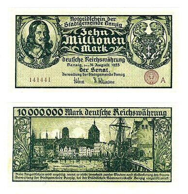 Danzig 10 milliarden mark 1923 Reproductions UNC
