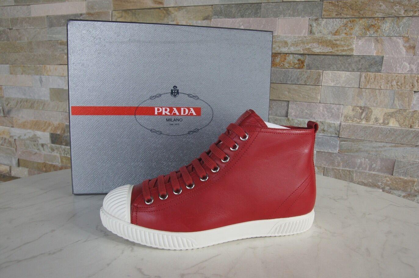 PRADA TAGLIA 37,5 High-Top    3t5877 normalissime scarpe rosso nuovo ex UVP 2af36d