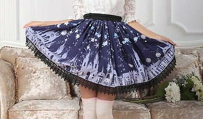 Cosplay Sweet Love Lolita Fairy Tale Castle Princess Skirt (axes femme style)
