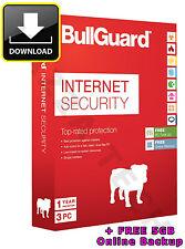 BULLGUARD INTERNET SECURITY 2017 2016 / V17 3 PC BENUTZER 1 JAHR