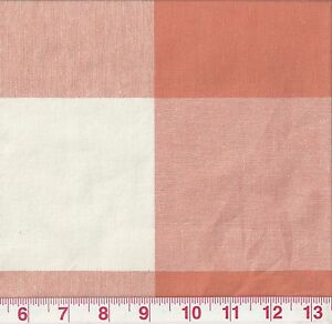 Orange-Large-Check-P-Kaufmann-Drapery-Upholstery-Fabric-Call-Me-Tangerine