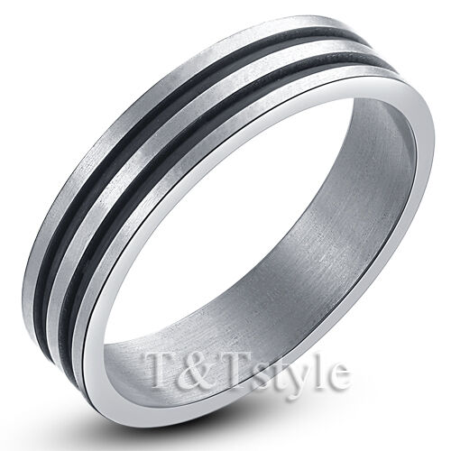 UNIQUE T/&T Stainless Steel  RING Size 8.5  R11 NEW