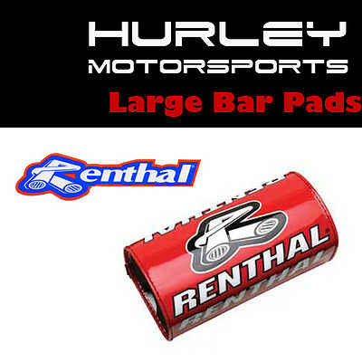 - Red 10in P215 Renthal ATV//MX SX Crossbar Handlebar Bar Pad