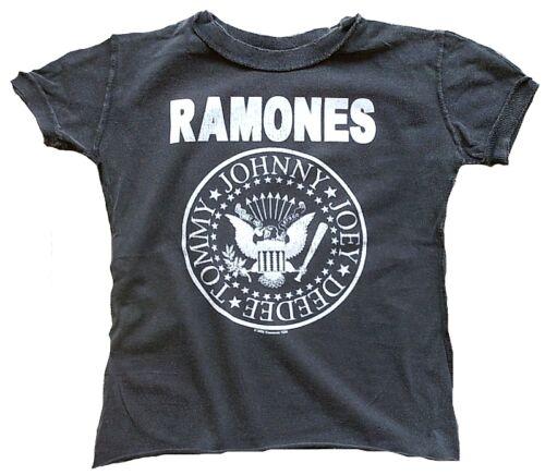 Amplified ramones Hey Ho Let /'s Go Logo Kids rock star vintage t-shirt 86//92