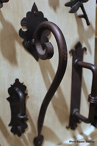 Superieur Image Is Loading Scroll Large Wrought Iron Door Handle Dark Bronze