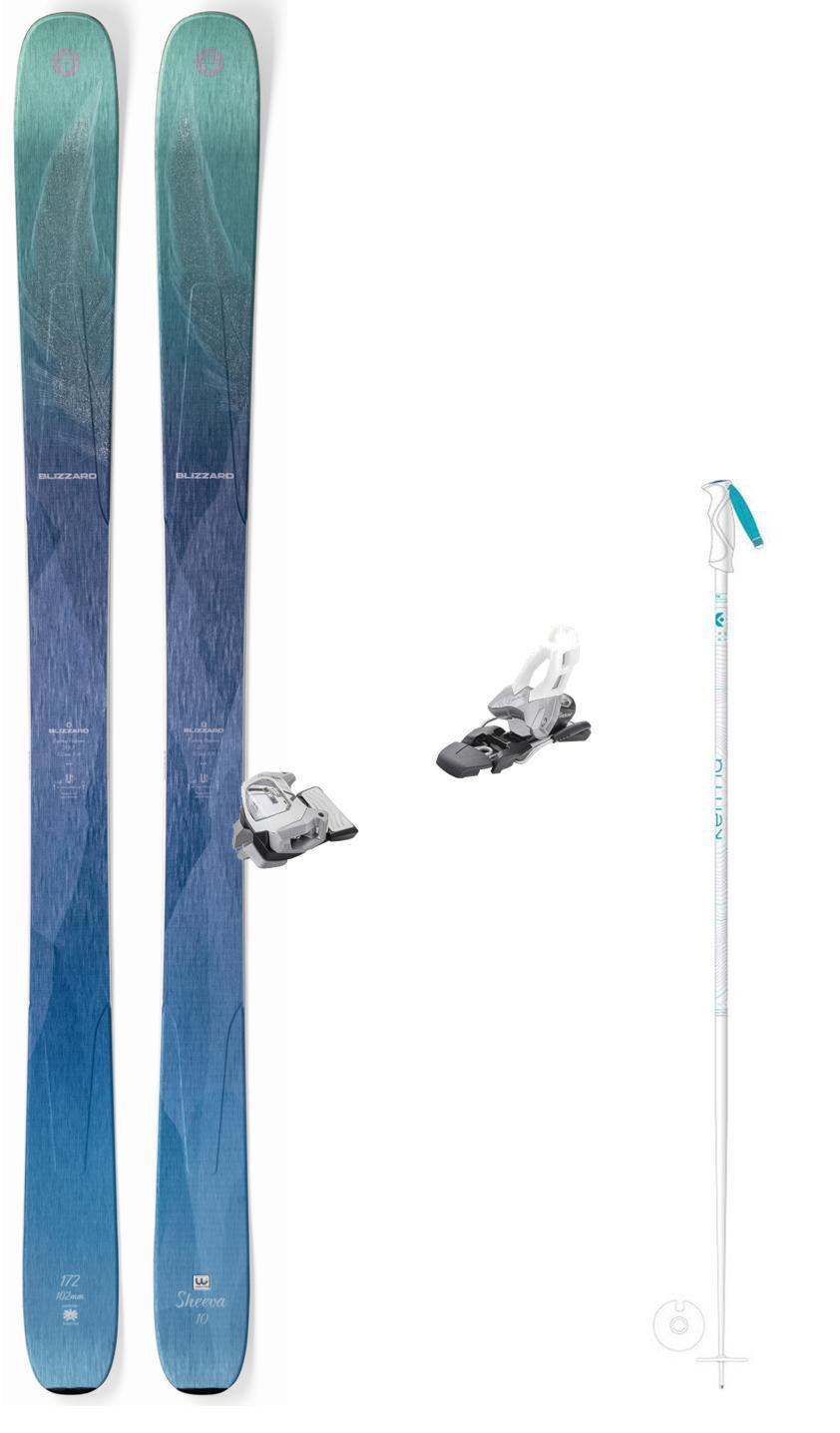 Blizzard Sheeva 10 ladies' snow skis 164cm w-bind (incl POLES at BuyItNOW) 2019
