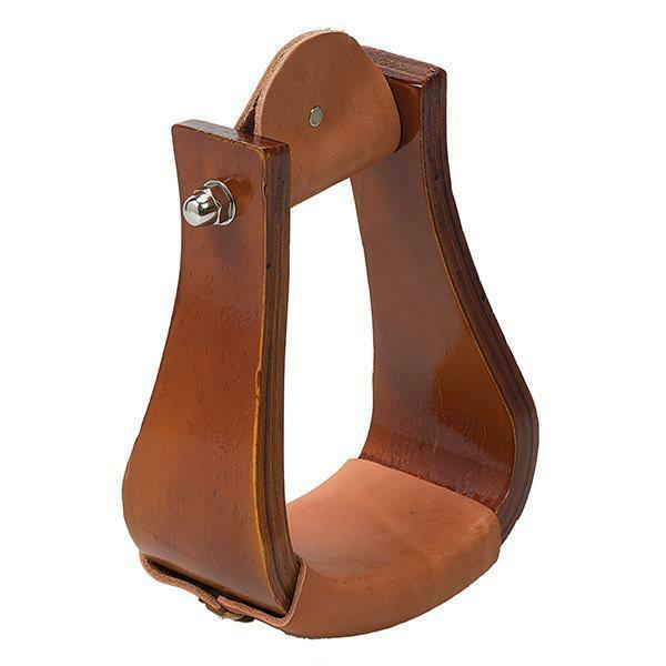 WEAVER SLOPED WOODEN ROPER STIRRUP WITH LEATHER 30-3131