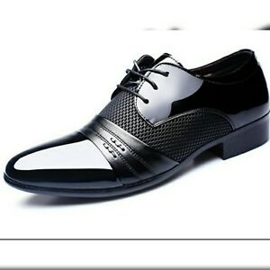 mens fancy dress shoes dance prom wedding funeral suit pu
