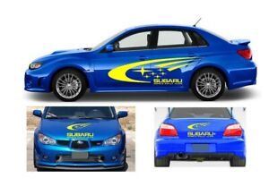 2x Subaru STI Side Mirror cover stickers decal Impreza Legacy Forester WRX JDM