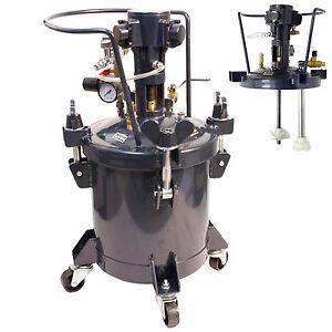 pressure feed paint pot tank spray gun sprayer reg air mix agitator. Black Bedroom Furniture Sets. Home Design Ideas