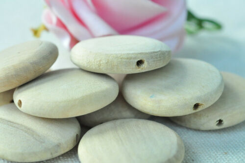 10pcs Round Wooden Bead Unpainted Natural Wood Necklace Handmade Accessory Craft