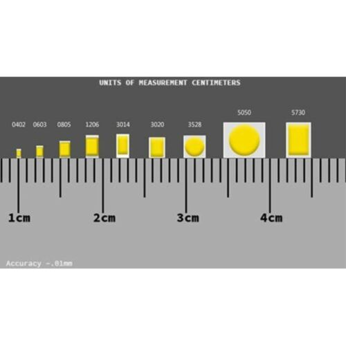 50 x 12v 0603 1608 Orange Amber Nano SMD LED Pre-Wired Light Soldered Leads 9v