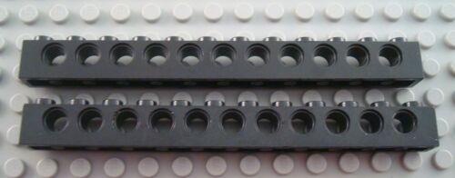 LEGO Lot of 2 Black 1x12 Technic Bricks