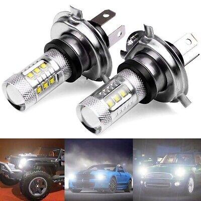 2x 80W H4 9003 HB2 1000LM DRL Fog Light LED Headlight Bulb Kit Hi//Lo 6000K White