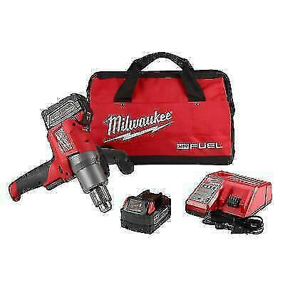 MILWAUKEE 2810-22 M18 FUEL™ 18V Cordless Mud Mixer w/ 180° Handle with 2-5ah Bat