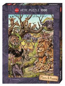 MARION WIECZOREK - SAVANNAH FLORA & FAUNA - Heye Puzzle 29661 - 1000 Pcs.
