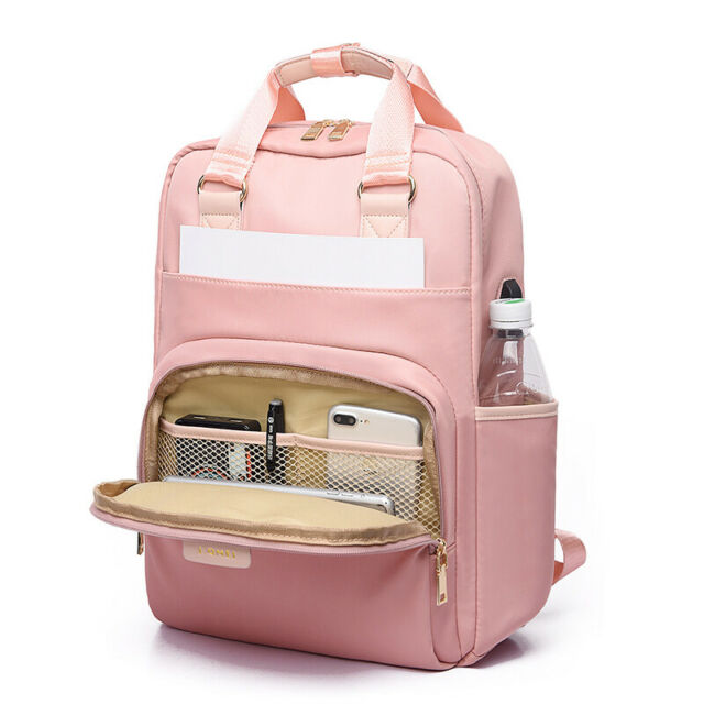 """Laptop Notebook Backpack USB Charging Computer Case Bag Knapsack 13"""" 15"""" for HP"""