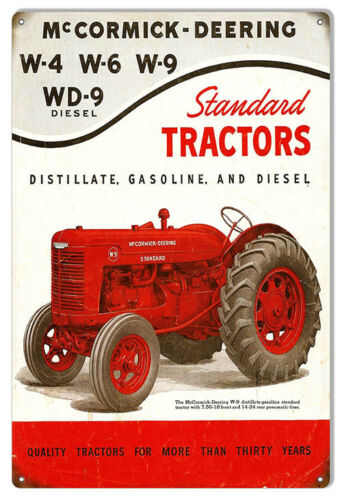 """McCormick-Deering Tractors Construction Reproduction Country Sign 12/""""x18/"""""""