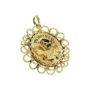 APP-0-7k-Fine-Jewelry-14-kt-Gold-Round-Cut-French-Crystal-Pendant-Lot-1868065