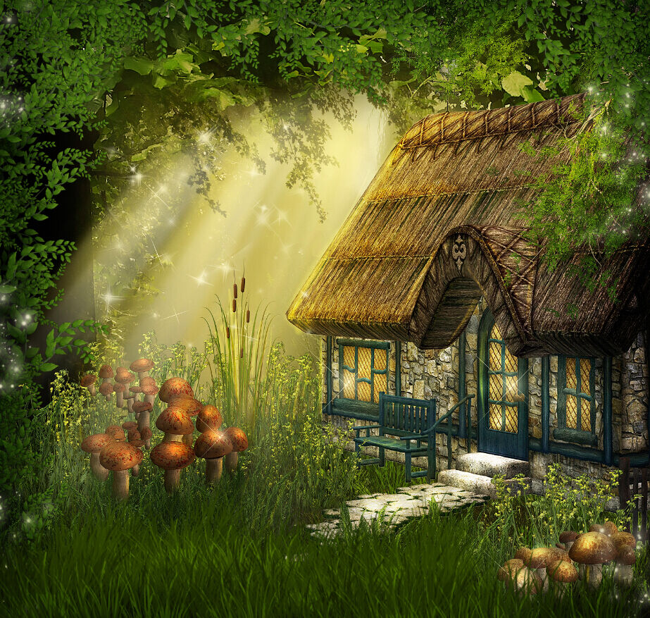 3D Forest Beautiful Cottage 40 Wall Paper Wall Print Decal Wall AJ Wall Paper
