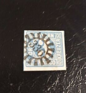 Bayern-3-Kreuzer-blau-Nr-2II2-gMR-034-336-034-Straubing-Niederbayern