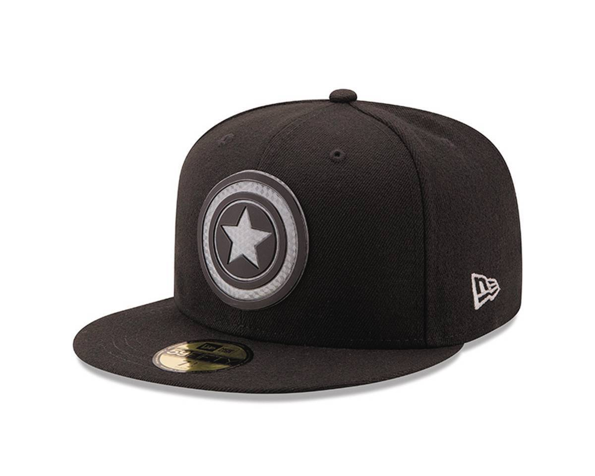 Marvel Captain America Shield Hexshine 5950 Fitted Baseball Cap