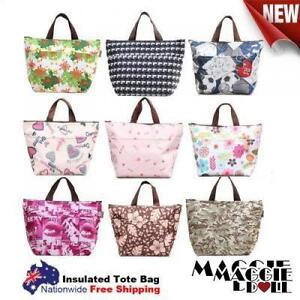 New-Insulated-Tote-Bag-Cool-Bag-Cooler-Lunch-Box-Bag-Multiple-Designs