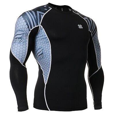 FIXGEAR C2L-B41 Compression Long Sleeve Shirt for Workout MMA Sportswear