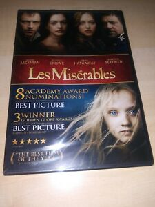 LES-MISERABLES-New-Sealed-DVD-Hugh-Jackman-Russell-Crowe-Anne-Hathaway