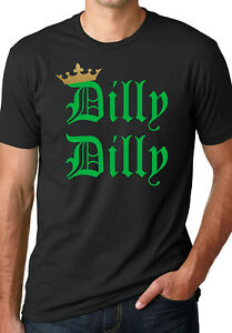 Dilly Dilly White Logo T Shirt Drinking Funny Commercial Tee Bud Beer Gift New