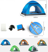 4 Person Instant Pop Up Tent Auto Set Up Camping Hiking Fishing Uv Protection