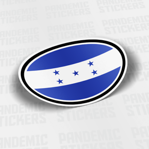 Honduras Flag Vinyl Decal Sticker Car Bumper Calcomania Bandera Tegucigalpa