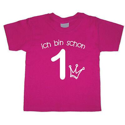 Quality And Quantity Assured Clever Geburtstagsshirt Ich Bin Schon 1 Neu Wunschname Wahl Motiv Fuchsia