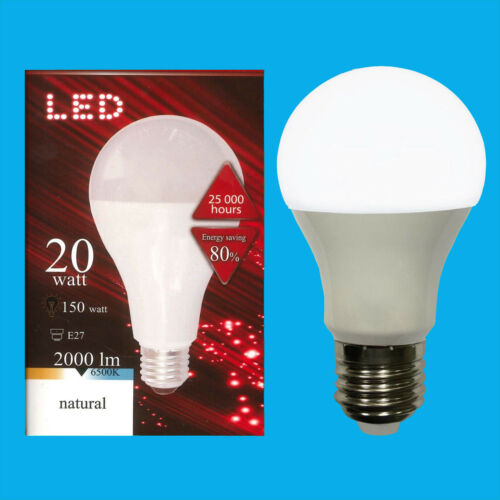 4x 20W =150W LED 2700K Warm white GLS ES E27 Edison Screw Light Bulb Lamp