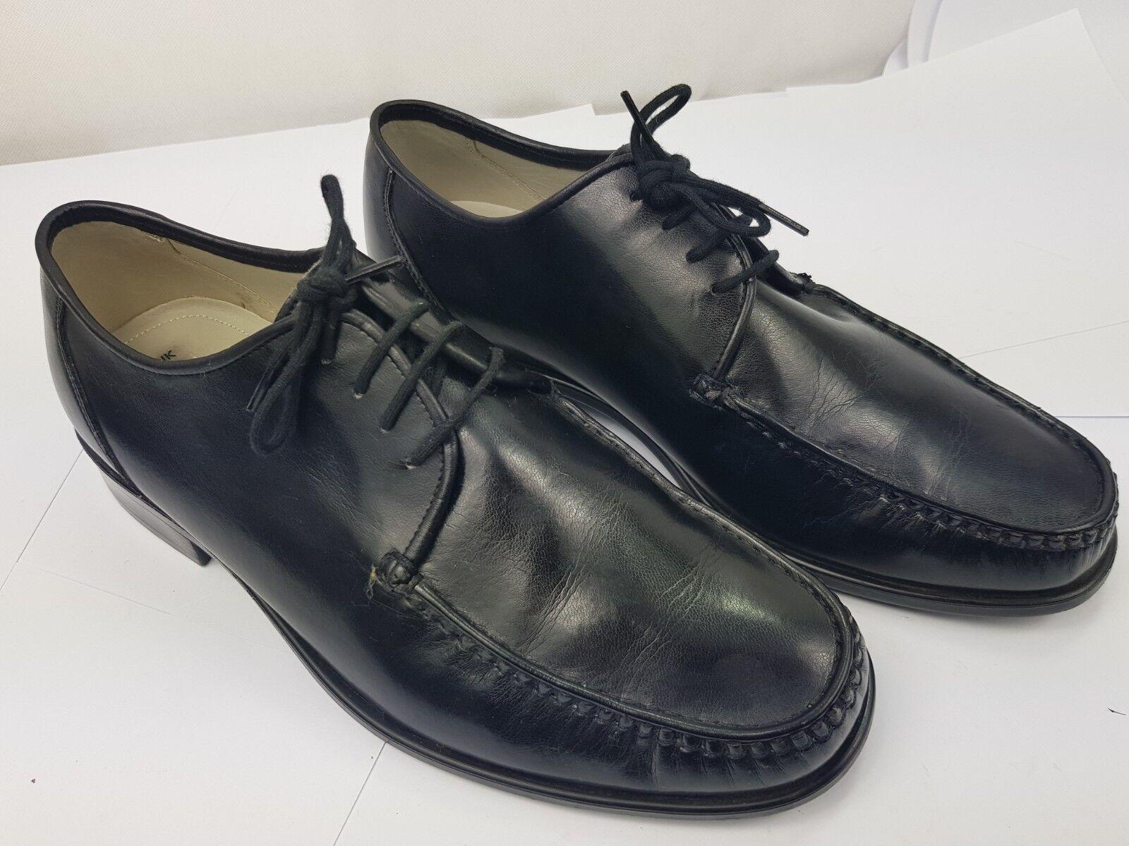M&S Marks & Spencer Mens Non Polish Black Lace Up Leather shoes UK 8.5 EU 42.5