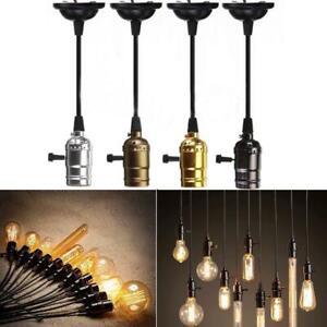 D0A5 E26//E27 Vintage Retro Pendant Lamp Holder Thread Socket Screw with Switch