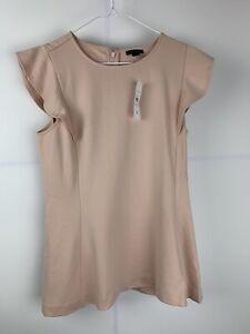Ann Taylor Women's Size S Top Blouse Peach Color Tone Sleeveless NWT