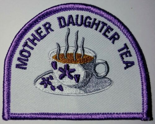 Mother Daughter Tea Embroidered Badge Patch Teacup NEW