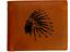 Nativo-Americano-Jefe-Indio-Cartera-de-Piel-Genuina-Hombre-Regalo-Marron miniatura 1