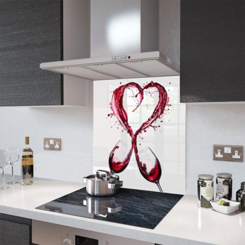 By Premier Range Glass Splashbacks Wine Splash Heart Glass and Accessories