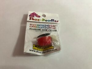 Red-Flashing-Shoe-Doodle-Blinkeez-Shoe-Charm-for-Crocs-comes-with-light-PSC422