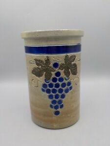 Vintage-Stoneware-Wine-Cooler-Salt-Glaze-Pottery-Crock-Roger-Schmitter-France