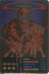 Spiderman Heroes And Villains Card #057 Carnage Foil