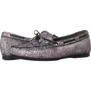 107d9df0cb15e2 MICHAEL Michael Kors Sutton Moc Bow Moccasins Shoes Black/Silver | eBay