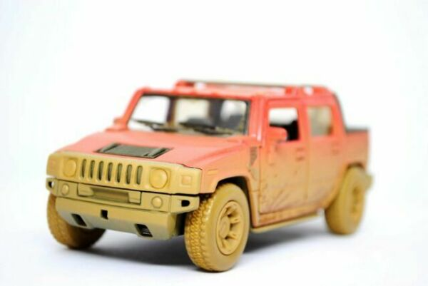 """5/"""" Kinsmart 2008 Hummer H2 SUV Surfboard Diecast Model Toy Truck 1:40 White"""
