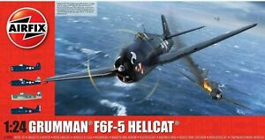 AIRFIX-1-24-GRUMMAN-F6F-5-HELLCAT-WW2-MODEL-AIRCRAFT-MODEL-KIT-PLANE-A19004